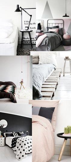 Sleeping room pink / grey