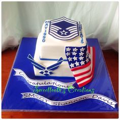 Air Force Retirement cake by Jay of Sweettooth's Creations https://www.facebook.com/SweettoothsCreationsCakeCupcakes