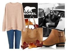 """""""Kick Up the Leaves (Stylishly) With SOREL: CONTEST ENTRY"""" by tamsy13 ❤ liked on Polyvore featuring Topshop, SOREL, Sole Society, MANGO and sorelstyle"""