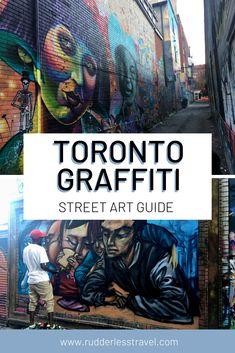Toronto Street Art guide. #Travel #Toronto Guide Toronto Nightlife, Toronto Travel, Canadian Travel, European Travel, Toronto Street, Top Travel Destinations, Travel Articles, Street Art Graffiti, Night Life