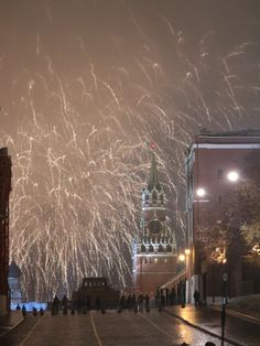 Firework. Moscow, Fireworks, Winter, Outdoor, Winter Time, Outdoors, Outdoor Games, The Great Outdoors, Winter Fashion