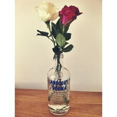 Roses & Absolute Vodka = the perfect combination!