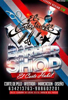 flyers CM: Barbershop Flyer, Diseño exclusivo y personalizado para peluquerias, Diseño de flyers,#imprenta online,15€ http://flyercmpublicidad.blogspot.com.es/p/blog-page.html  https://www.facebook.com/pages/Flyers-design-CM/226716934173507