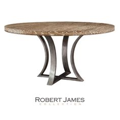 The curved steel base beautifully compliments the round top on the new Tamarind Dining Table. Handmade locally with stunning details in our Etched Steel finish on the base. The top is also available in Walnut or polished lacquer. Fully customizable. www.robertjamescollection.com #high #design #custom #handmade #dining #table #interior #design #ironandwood #whiteoak