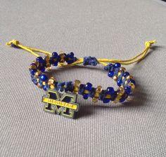 University of Michigan Macramé Bracelet by BoilerChic on Etsy, $15.00