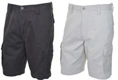 Dockers Mens Washed Cargo Shorts Flat Front 32 34 40 42 44 Beige Dark Gray NEW #DOCKERS #Cargo