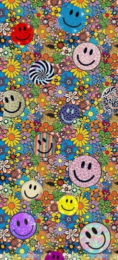 Smiley Floral background/wallpaper