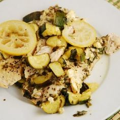 Chicken with Zucchini and Feta @keyingredient #cheese #chicken
