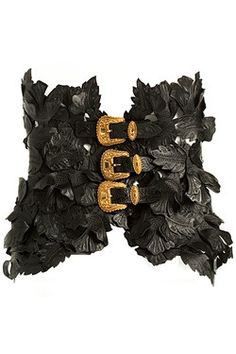 Black corset.  Alexander McQueen...of course! George this would look amazing on you!!