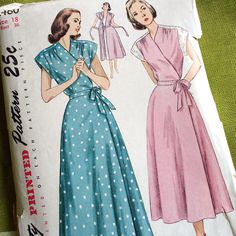 1940s Vintage Sewing Pattern - Maternity Robe - Housecoat - Simplicity 2460