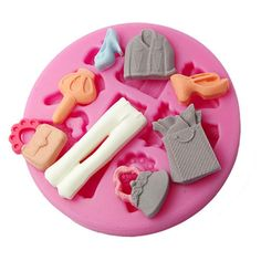 FOUR-C Mold Lady Clothes Silicone Mould Color Pink >>> Get more discounts! Click the pin : Baking essentials Rolling Fondant, Ice Molds, Cake Mold, Gum Paste, Bakeware, Food Grade, Silicone Molds, Kitchen Dining, Chocolate