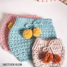 You can practically crochet anything with a hook and some yarn if you know the art of crocheting. But if you are looking for something for the newest little b Crochet Bebe, Crochet For Kids, Easy Crochet, Crochet Basics, Crochet Stitches, Crochet Patterns, Newborn Crown, Diaper Cover Pattern, Bonnet Pattern