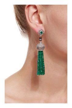 Emerald Cut Diamond Earrings For Sale unlike Emerald Cut Topaz Earrings Studs before Earring Organizer Storage Box along with Emerald Earrings Goldsmiths Tassel Jewelry, High Jewelry, Tassel Earrings, Jewelry Art, Beaded Jewelry, Jewelry Accessories, Jewelry Design, Fashion Jewelry, Jewellery Box