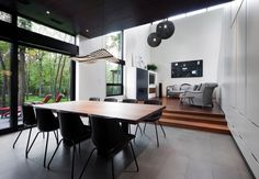 """In Boucherville, Quebec, <a href=""""http://www.dwell.com/design-source/org/blouin-tardif-architecture-environnement"""">Blouin Tardif Architecture-Environnement</a> designs a single-family house that opens onto a veranda."""