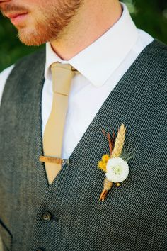 rustic groom looks http://www.weddingchicks.com/2013/11/22/van-gogh-inspired-wedding-ideas/