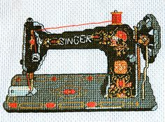Vintage Singer Sewing Machine. Modern Cross Stitch Pattern PDF.. $5.00, via Etsy.