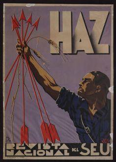 Haz : Revista nacional del SEU :: Cartells (Biblioteca de Catalunya)