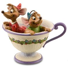 Tea for Two Gus and Jaq Figurine by Jim Shore | Figurines & Keepsakes | Disney Store