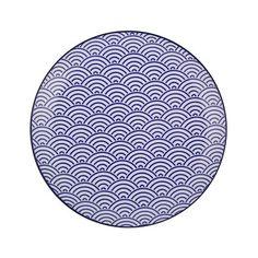 Tokyo Design Studio - Nippon Blue Dinner Plate - Wave  sc 1 st  Pinterest & Tokyo Design Studio - Starwave Dinner Plate - Large Wave - Dark Blue ...