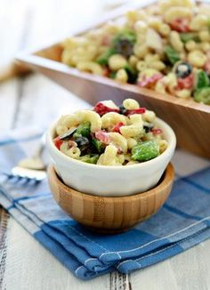 Though this dish is called Summertime Macaroni Salad, we could eat this deli salad pretty much any season!  Get the simple and delicious macaroni salad recipe right here...