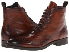 $450, Brown Leather Brogue Boots: To Boot New York Brennan. Sold by Zappos. Click for more info: https://lookastic.com/men/shop_items/34905/redirect