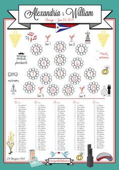 Custom Wedding Seating Chart by cwdesigns2010 on Etsy, $290.00