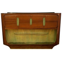 Vittorio Dassi Art Deco Rosewood Buffet, Bar Cabinet, Italy, 1940s | From a unique collection of antique and modern cabinets at https://www.1stdibs.com/furniture/storage-case-pieces/cabinets/