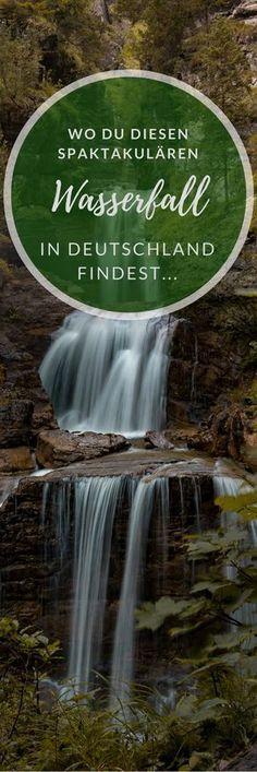 Wandern in Bayern - Wo du diesen spektakulären Wasserfall findest erfährst du hier! Los geht's!