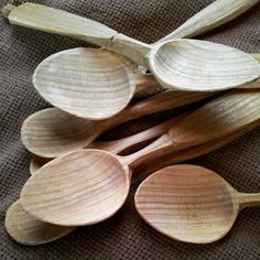 this mornings cherry spoons ready for oil #spooncarving