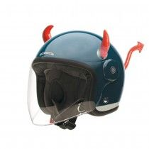 Helmet ears - Devil horns and tail Scooter Helmet, Motorcycle Gear, Horns, Devil, Gears, Motorcycles, Accessories, Horn, Gear Train