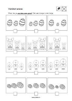 werkbladen Pasen kleuters en veel paasideeën voor in de klas! Easter Activities For Kids, Spring Theme, Easter Bunny, Art For Kids, Homeschool, Teaching, Crafts, Therapy Activities, Montessori