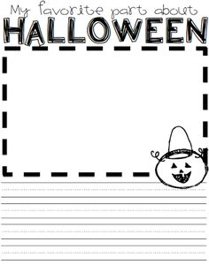 Halloween Activities for Elementary (with lots of freebies) What the Teacher Wants!: Halloween Activities for Elementary (with lots of freebies) Kindergarten Writing, Teaching Writing, Writing Activities, Teaching Ideas, Writing Centers, Teaching French, Kindergarten Classroom, Classroom Ideas, Literacy