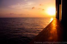 Sunset on Freedom of the Seas.