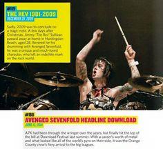 A7X en el listado de los 200 Momentos Especiales de Rock Sound (Avenged Sevenfold)