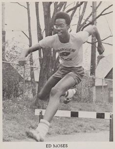Edwin Moses in his 1973 yearbook on his way to become one of the greatest hurdlers of all time. Fairview High School, Dayton, Ohio.  #1973 #EdwinMoses #hurdler #yearbook
