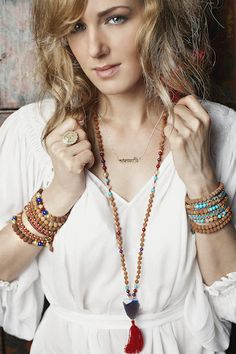 Authentically blessed malas and bracelets for meditation, yoga & as a spiritual lifestyle accessory www.omshivaloka.com