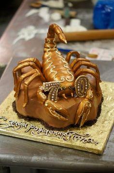 Scorpio  Cake by Chuchik