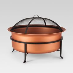 You'll love being able to move this freestanding Copper Wood-Burning Fire Pit from Smith & Hawken™ anywhere, anytime the mood for a cozy outdoor. Copper Fire Pit, Natural Gas Fire Pit, Wood Fire Pit, Copper Wood, Steel Fire Pit, Wood Burning Fire Pit, Fire Pit Patio, Diy Fire Pit, Outdoor Fire
