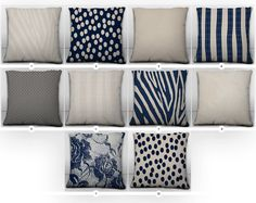 Navy and Cream Mix and Match Throw Pillow Covers  City Chic Collection by MotifMotifShop, $57.99