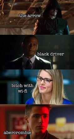 Arrow - Oliver, Felicity, Roy  Diggle: Team Arrow secret identity