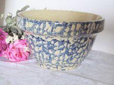 Robinson Ransbottom Blue Spongeware Bowl 7 inch  by @EstateFinds4U2