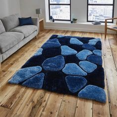 Buy Noble House Blue Rugs from - Free UK Delivery. Affordable Handmade Shaggy Rugs: Noble NH 5858 Blue Rugs are hand tufted with soft & thick Acrylic & Polyester yarn for a contemporary optical effect. Sizes in: 120 x 170 cm to 180 x 270 cm Green Carpet, Carpet Colors, White Carpet, Duck Egg Blue Rugs, High Pile Rug, Tapis Design, Cheap Carpet Runners, Machine Made Rugs, Bedroom Carpet