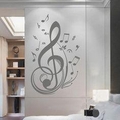 100x58 High Note music   Nature Vinyl Wall Paper Decal Art Sticker Q137. $20.88, via Etsy.