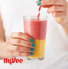 No need clean out the blender while making Two Color Smoothies. Make the bottom layer and blend the top layer after. Perfect for busy mornings. Blend in vanilla protein powder for an extra boost.