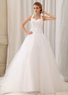 >> Click to Buy << Romantic A-Line Wedding Dresses Halter Beading Tulle Casamento Robe De Mariage Vestidos De noiva Curto Wedding Dresses #Affiliate