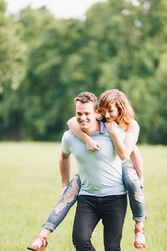 Piggy backs are the best! Seet engagement shoot by Hunter Ryan Photo