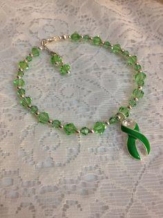 Green Liver Cancer Name Bracelet. by karlajophoto, $40.00