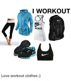Turquoise/black/white gym wear