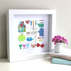 personalised mum's kitchen artwork by sweet dimple | notonthehighstreet.com