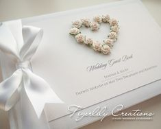 """""""Romance"""" Guest Book. #weddingguestbook #guestbook #rosesguestbook #rosesweddingstationery #whiteroseswedding #floralguestbook #floralweddingideas"""